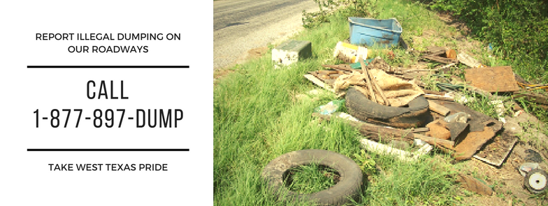 Illegal Dumping call 877-897-dump